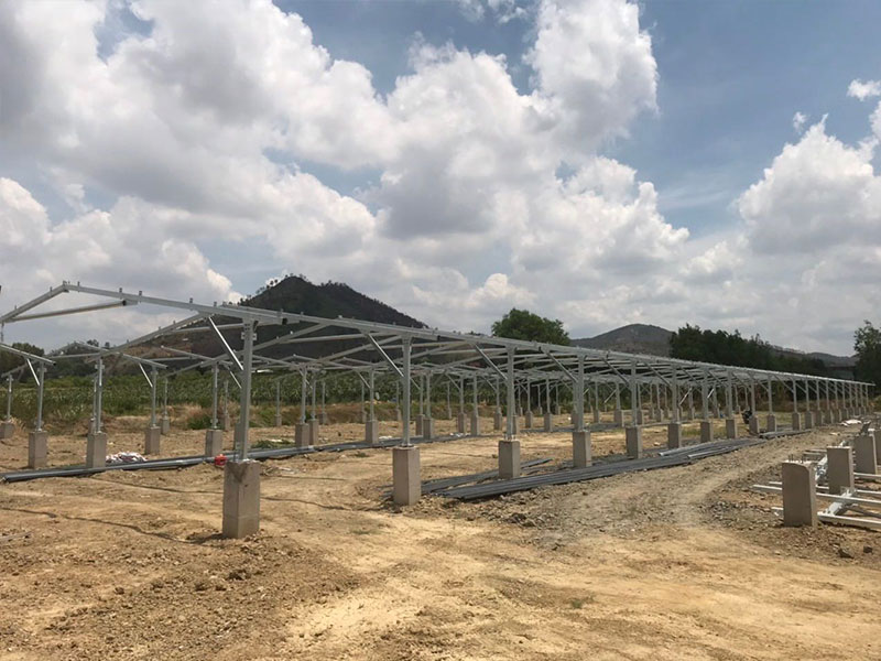 PHC Pile Solar PV Ground Mounting Structure
